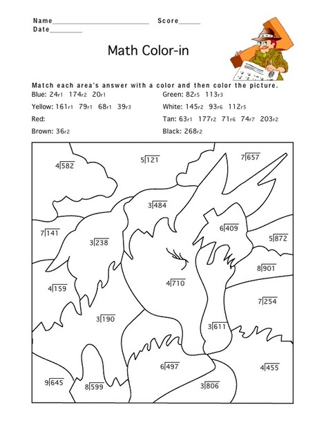 colour by maths Colouring Pages